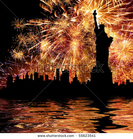 stock-photo-silhouette-statue-of-liberty-on-firework-background-55623541