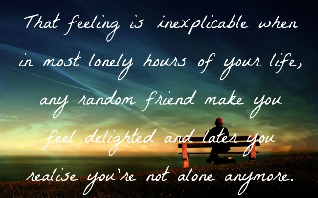 Feel Lonely Wallpaper That feeling i
